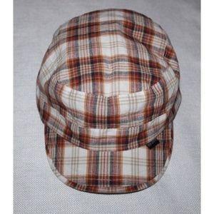 Peter Grimm Brown Plaid Adjustable Cap Hat EUC